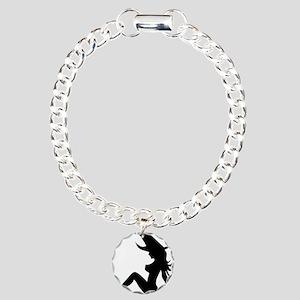 Trucker Witch Charm Bracelet, One Charm