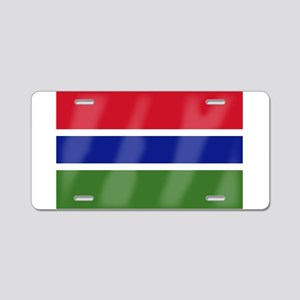 Gambia Flag Aluminum License Plate