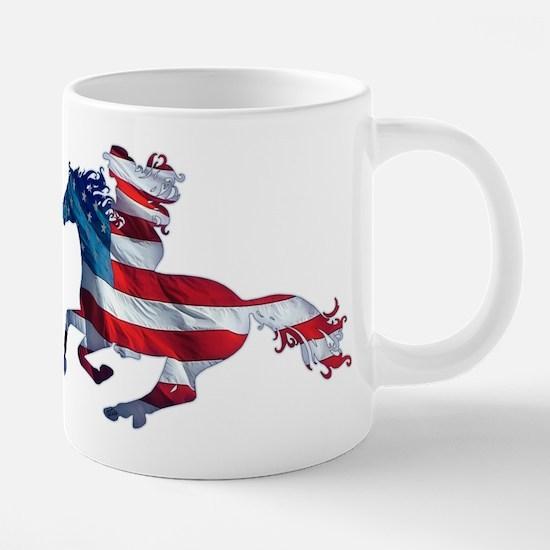 American Western Horse Cowgirl Mugs