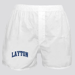 LAYTON design (blue) Boxer Shorts