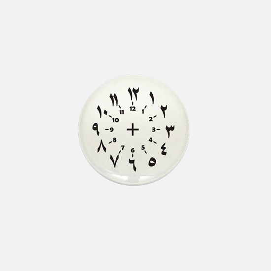 CLOCKFACE ARABIC NUMERALS Mini Button