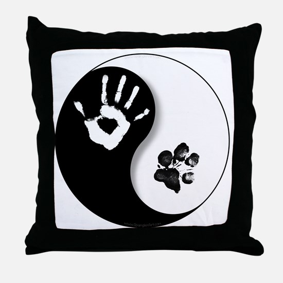 Cool Yin yang Throw Pillow