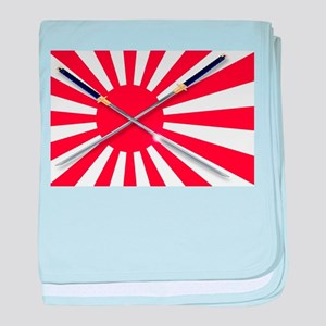 Japanese Flag and Swords baby blanket