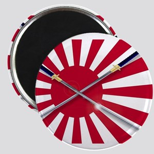 Japanese Flag and Swords Magnets