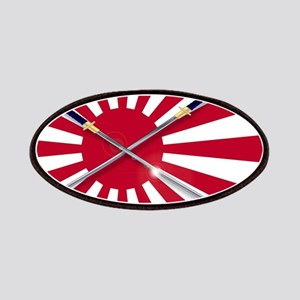 Japanese Flag and Swords Patch