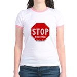 Stop Sinning Jr. Ringer T-shirt