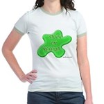 Stuck On Yeshua Jr. Ringer T-shirt
