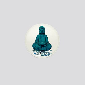 Buddha blue. Mini Button