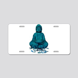 Buddha blue. Aluminum License Plate