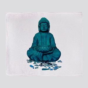 Buddha blue. Throw Blanket