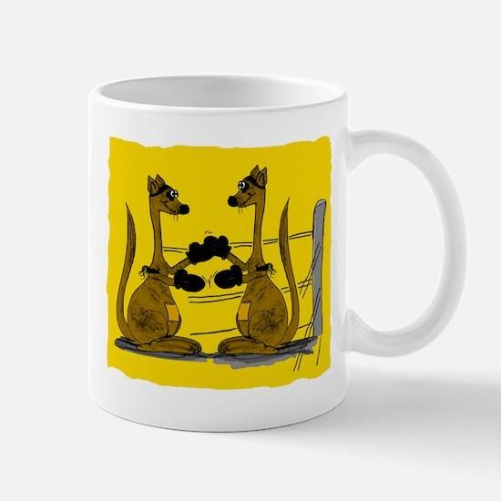 Boxing kangaroo Mugs