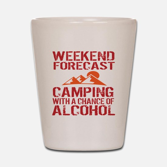 Cute Camping funny Shot Glass