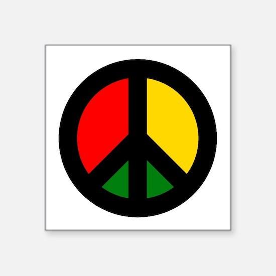 Rasta Ban the Bomb Sticker