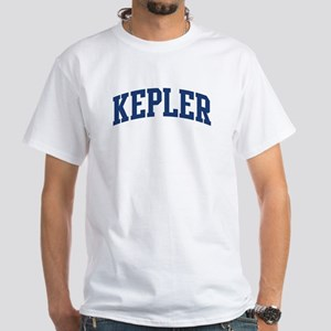 KEPLER design (blue) White T-Shirt