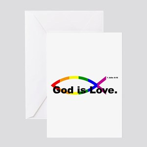 God is Love. Greeting Cards
