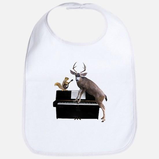 Deer Piano Baby Bib