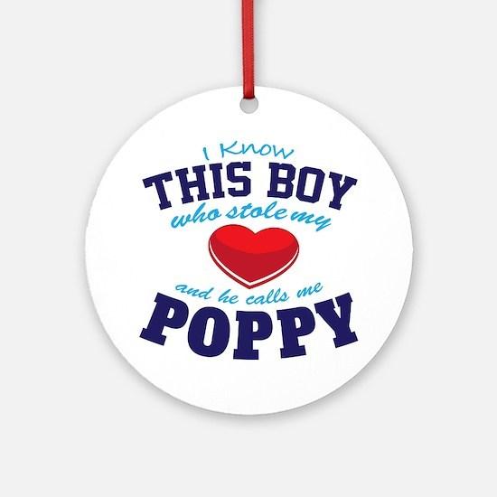 Cute Poppy Round Ornament