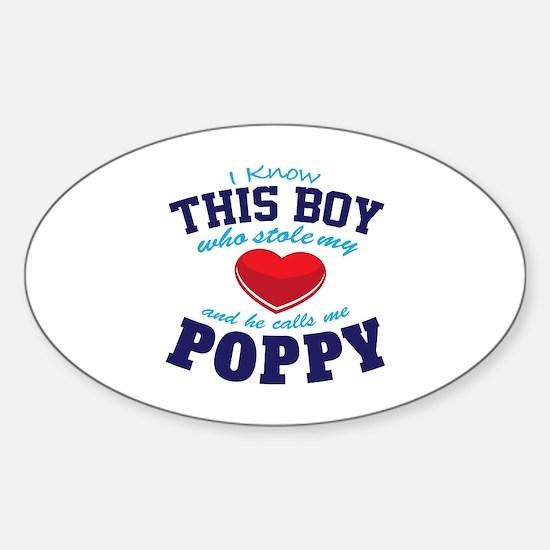 Cute Poppy Sticker (Oval)