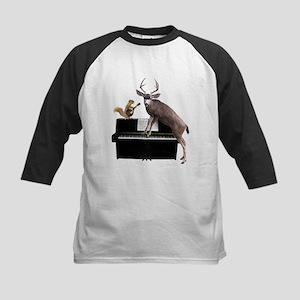 Deer Piano Baseball Jersey