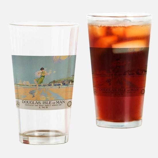 Douglas Isle of Man Vintage Travel Drinking Glass