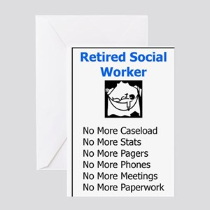 Retired Social Worker Greeting Cards