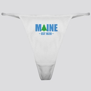 MAINE - EST 1820 PINE TREE Classic Thong