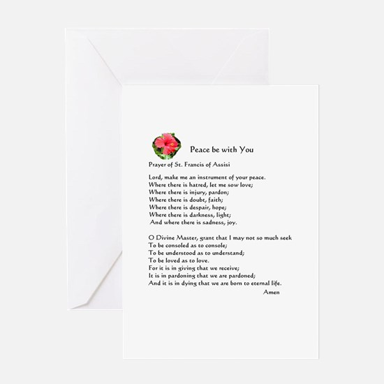 Prayer Of St. Francis On 1 Greeting Cards