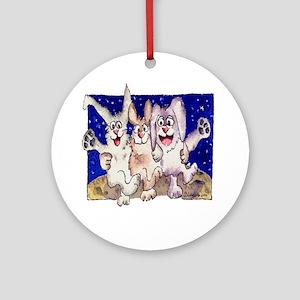 Full Moon Rabbits Ornament (Round)