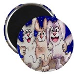 "Full Moon Rabbits 2.25"" Magnet (10 pack)"