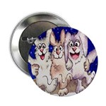 "Full Moon Rabbits 2.25"" Button"