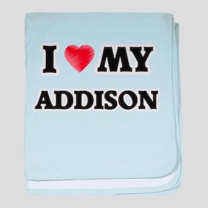 I love my Addison baby blanket