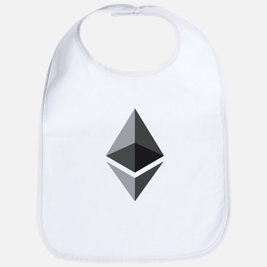 HD Ethereum Official Logo Ethereum Coin Baby Bib