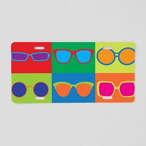 Sunglasses Checkerboard Aluminum License Plate