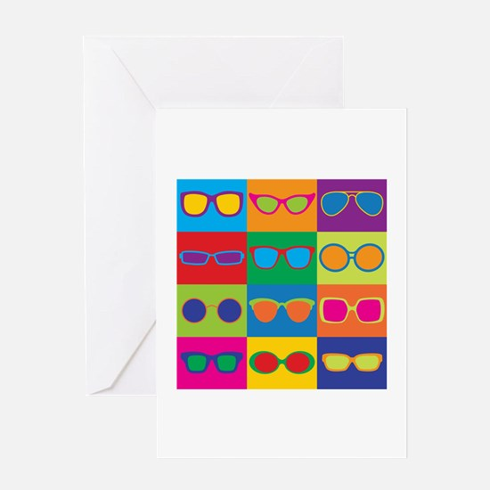 Sunglasses Checkerboard Greeting Cards