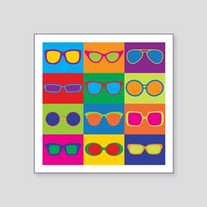 Sunglasses Checkerboard Sticker