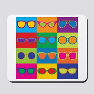 Sunglasses Checkerboard Mousepad