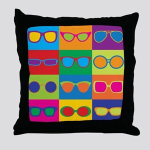 Sunglasses Checkerboard Throw Pillow