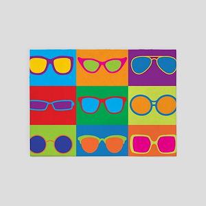 Sunglasses Checkerboard 5'x7'Area Rug