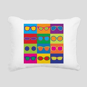 Sunglasses Checkerboard Rectangular Canvas Pillow