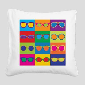 Sunglasses Checkerboard Square Canvas Pillow
