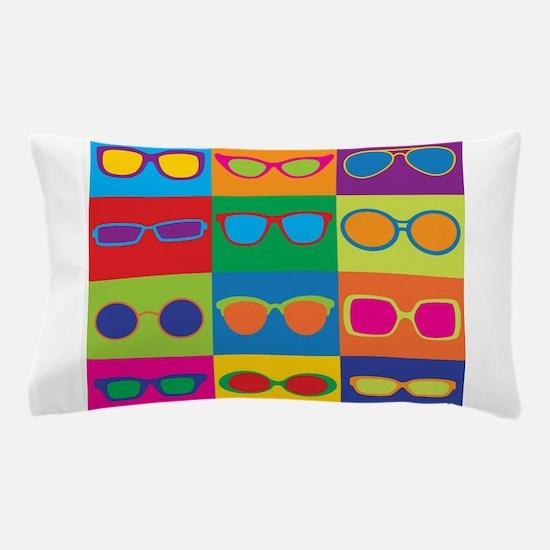 Sunglasses Checkerboard Pillow Case