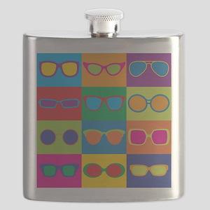 Sunglasses Checkerboard Flask