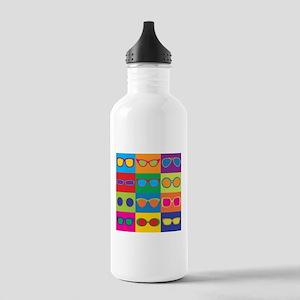 Sunglasses Checkerboard Water Bottle