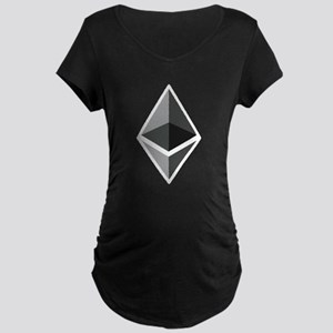 HD Ethereum Official Logo Ethere Maternity T-Shirt