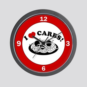 I Love Carbs! Wall Clock
