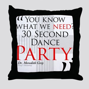 30 Second Dance Party Throw Pillow