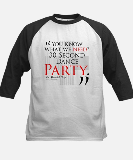 30 Second Dance Party Kids Baseball Jersey