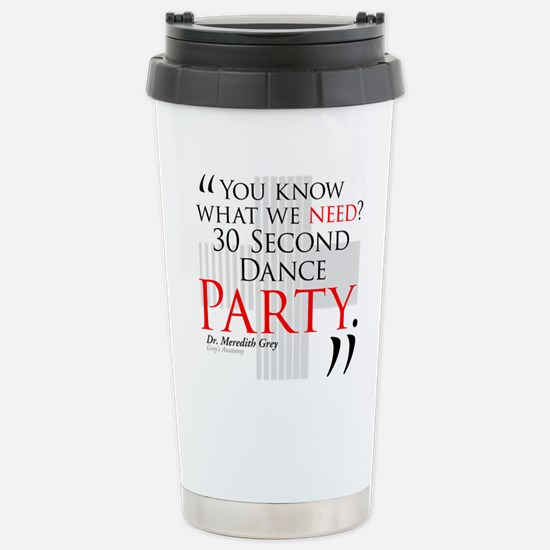 30 Second Dance Party Ceramic Travel Mug