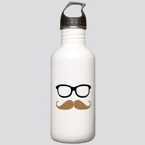 Mustache and Glasses Stainless Water Bottle 1.0L