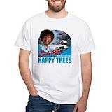 Bob ross happy trees Mens Classic White T-Shirts